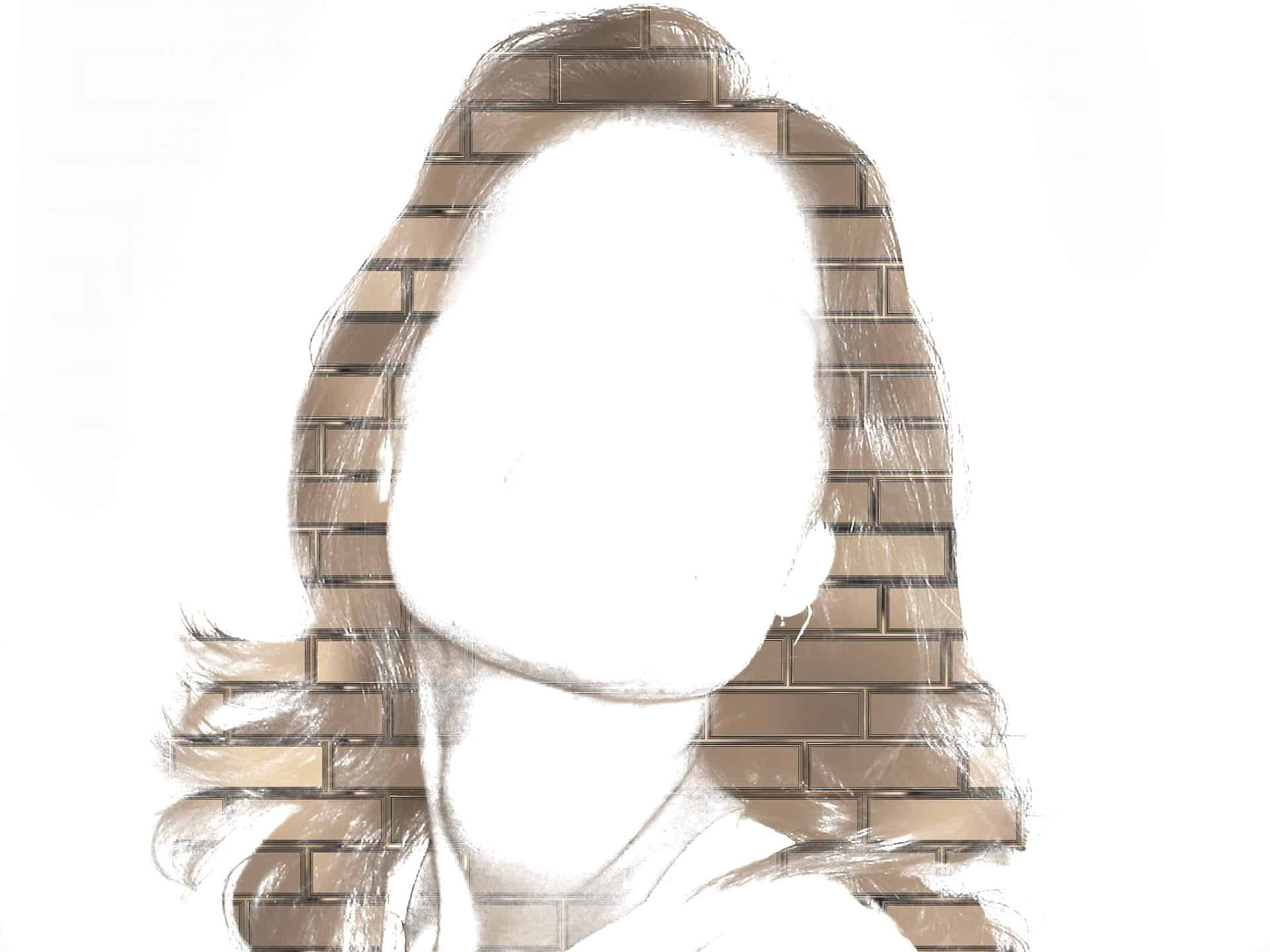Kvinna, tomt ansikte